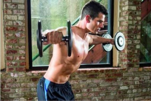 训练器材:侧平举变化式:钟摆式侧平举