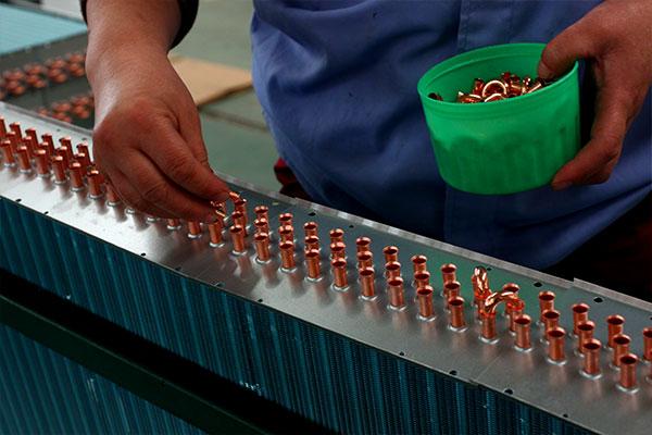 Fan coil production line